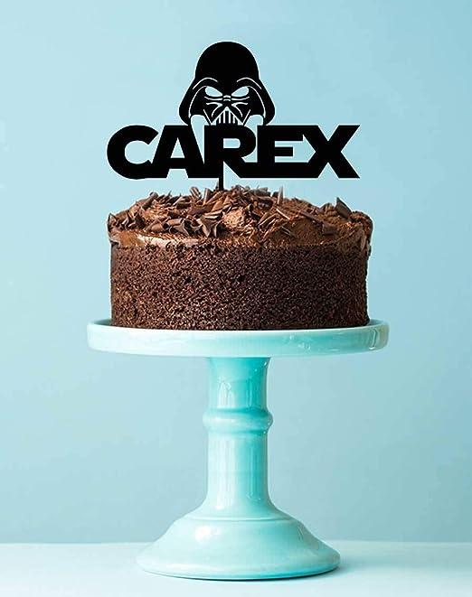 Decoración para tarta de cumpleaños de Darth Vader de Star ...