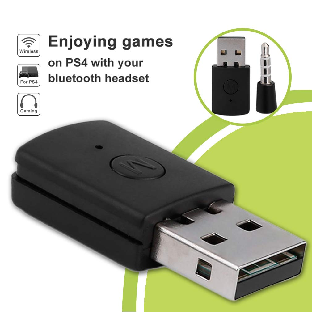 FairytaleMM Bluetooth Dongle 4.0 USB Bluetooth Adapter Receiver para la Consola del Controlador PS4 Color: Negro