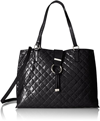 Calvin Klein Quilted Distressed Novelty Tote, Black by Calvin Klein