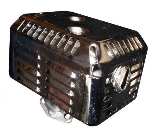 - Auto Express Honda GX160 GX200 5.5 HP 6.5HP Chrome Exhaust Muffler w/Heat Shield FITS 5.5HP