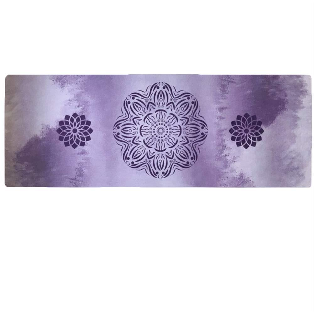 YONGMEI ヨガマット - スエード天然ゴム環境ヨガマット (色 : 紫の, サイズ さいず : 185*68cm-3.5mm) 185*68cm-3.5mm 紫の B07QZC8YTH