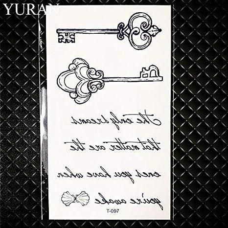 HXMAN 7 Unids Pequeño Negro Ancla Pirata Pirata Falso Tatuaje Sin ...