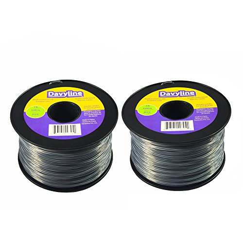 6-LB of DavyLine Heavy Duty Trimmer Line .095 in Diameter in 2 Spools of 3-LB 853 FT Each (Total: 1706 Ft) Round Shaped Nylon Weed Eater String ()