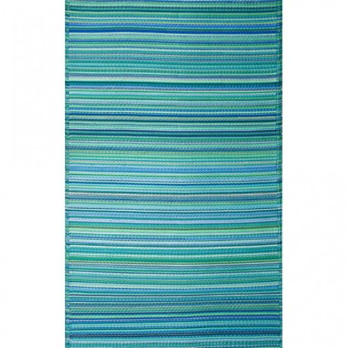 Fab Habitat Reversible Rugs | Indoor or Outdoor Use | Stain Resistant, Easy to Clean Weather Resistant Floor Mats | Cancun - Turquoise & Moss Green, (5' x 8') from Fab Habitat