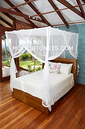 Mosquito NET Bed Canopy | Queen Size Bed Net | Easy Care Machine Washable Mosquito Netting | Secure Insect Protection with The Designer Mosquito net