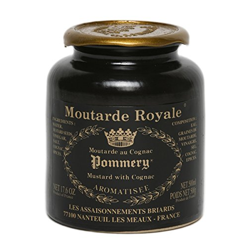 French Mustard Moutarde Royale au Cognac Pommery 500g (Cognac Mustard)