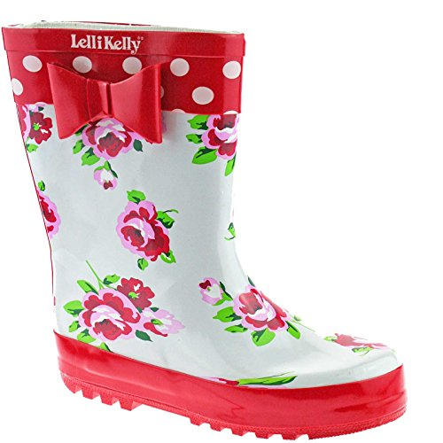 Lelli Kelly LK8850 (Rosso) White Floral Wellies-30 (UK 12)
