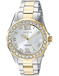 Invicta Womens Pro Diver Quartz Stainless Steel Casual Watch, Color:Two Tone (Model: 20215)