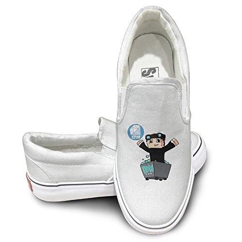 youtube-dan-tdm-diamond-minecart-fashion-slip-on-canvas-sneakers-44-white