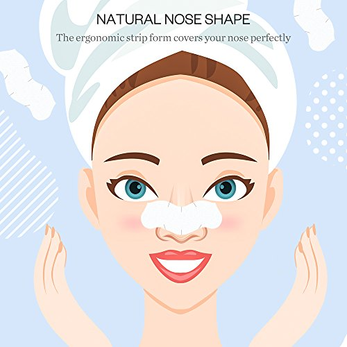 Large Product Image of Blackhead Remover Pore Strips Anjou Deep Cleansing Peel off Strip for Nose & Face, 32 Strips Last 4-6 Months, Anti-Bacterial & Anti-Inflammatory