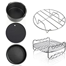 Befound Air Fryer Accessories 7 Inch Diameter Fit for 3.2QT - 3.7QT Phillips Gowise Power Black and Decker Avalon Brands(set of 5)