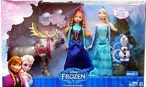 Disney Frozen Exclusive Doll Set Friends Collection [Anna, Elsa, Olaf & Sven]