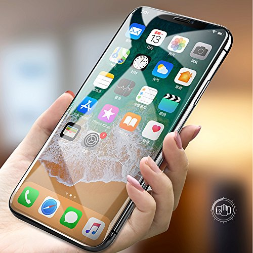 [3 PACK] iPhone X Screen Protector, LK Ballistic 2.5D Ultra Clear HD Tempered Glass Screen Protectors [Case Friendly] [3D Touch] [Anti- Scratch] [Bubble-Free] for Apple iPhone X