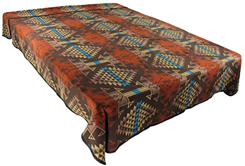 American Native Southwestern Pottery (Splendid Exchange Southwestern Bedding Diamond Star Collection, Mix and Match, King Size Reversible Bedspread, Star Burst Tan and Red)