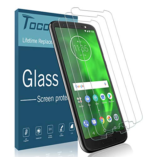 [3 Pack] TOCOL Screen Protector for Motorola Moto G6,Tempered Glass Anti-Scratch, Bubble Free [Case Friendly] [Japan Glass with 9H Hardness] with Lifetime Replacement Warranty