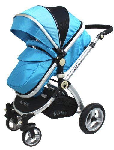 iSafe 2 in 1 Baby Pram System Complete (Ocean)