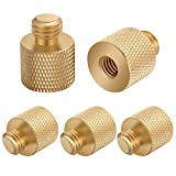 Neewer 5 Pieces Portable 1/4 inch Female to 3/8 inch Male Tripod Threaded Reducer Screw Adapter for Tripod, Shoulder Rig, Light Stand, Camera Cage (Gold)