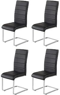 Esszimmerstühle modern rund  SVITA Esszimmerstuhl 4er Set Stühle modern Freischwinger ...