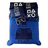 JORGE'S HOME FASHION INC New Pretty Collection PS4 Video Game Teens-Kids Boys Original Licensed Reversible Comforter Set and Sheet Set 5 PCS Twin Size