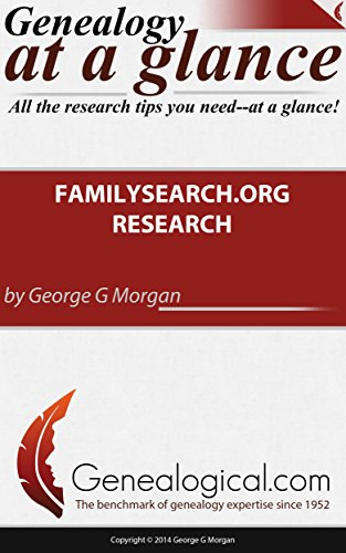Genealogy At A Glance  Familysearch Org Research