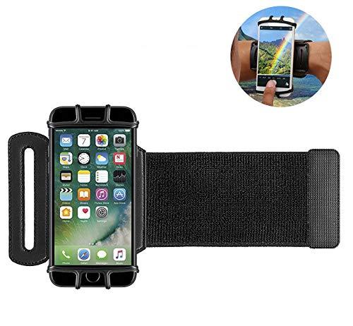 (Sport Cellphone Running Wristband Armband Wrist Case with 180° Rotating Compatible LG V35 / V30S / V40 / G7 / ThinQ/Stylo 4 / Stylo 4 Plus / V30 / G6 Plus/G Vista/X Power/Nokia 6.1 (Black))