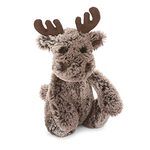 Jellycat Marty Moose Stuffed Animal, Small, 7 inches (Marty Moose)