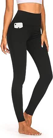 """Safort 19"""" 21"""" 23"""" Inseam Regular Tall High Waist Capri Bootcut Yoga Pants with Pockets"""