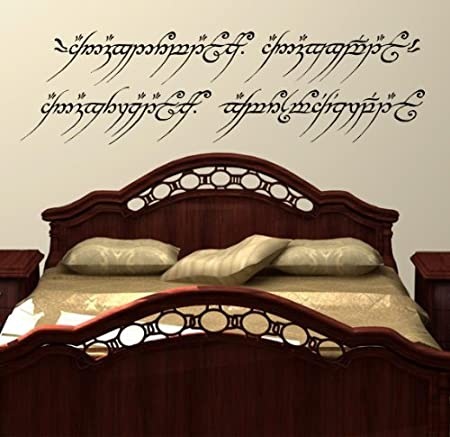 Lord Of The Rings Wall Art Decal Sticker One Ring To Rule Them All Elvish LOTR & Lord Of The Rings Wall Art Decal Sticker One Ring To Rule Them All ...