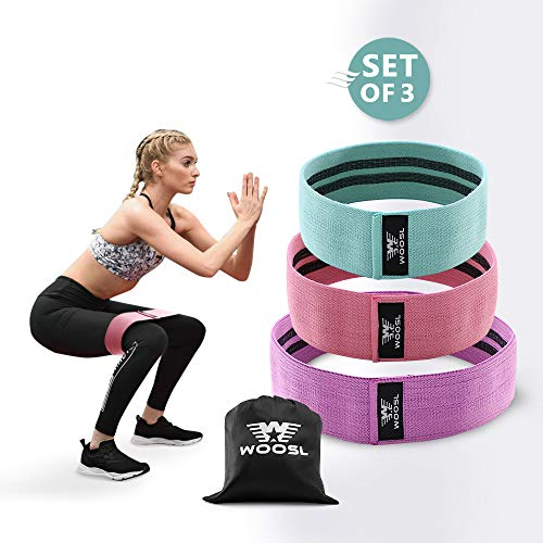 Resistance Bands Loop Exercise Bands Booty Bands Workout Bands Hip Bands Wide Resistance Bands For Legs And Butt Resistance Bands For Legs And Butt Booty Band Hip Resistance Band (3 Colors)
