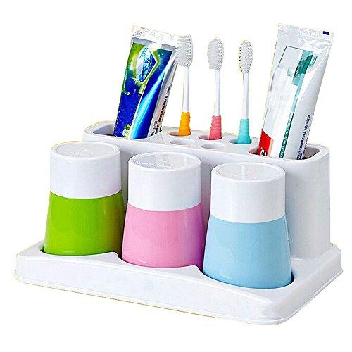 Eslite Toothbrush Toothpaste Bathroom Organizer