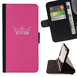 Momo Phone Case / Flip Funda de Cuero Case Cover - Rey Rosa Marca Minimalista Diseño - LG G3