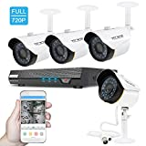 TECBOX Security Camera System Home Video Camera 4 Channel 720P AHD Dvr Recorder No Hard Drive With 4 HD 2.0MP Waterproof Night Vision Outside Security Outdoor CCTV Surveillance Camera System Review