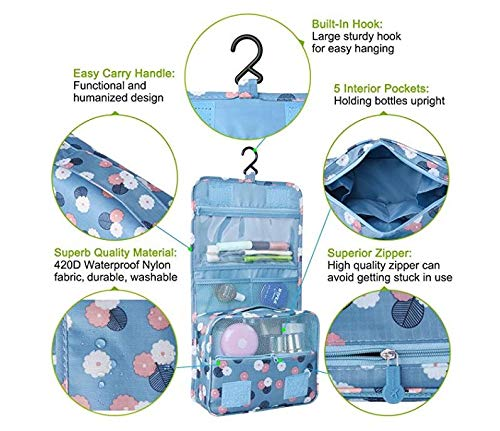 45d4c8e9fdf1 Amazon.com : F-BBKO Hanging Waterproof Toiletry Bag -Multifunction ...
