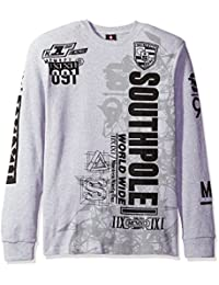 Southpole Men's Long Sleeve Thermal in Flock and Screen Graphic