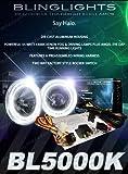 4 inch round hid fog lights - BL5000K White Halo Fog Lamps Driving Lights Angel Eye Round 4