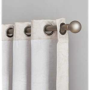 """HLC.ME Redmont Lattice Extra Wide-Width Thermal Blackout Grommet Patio Door Curtain Panel for Sliding Doors - 102"""" W x 84"""" inch Long (Ivory)"""