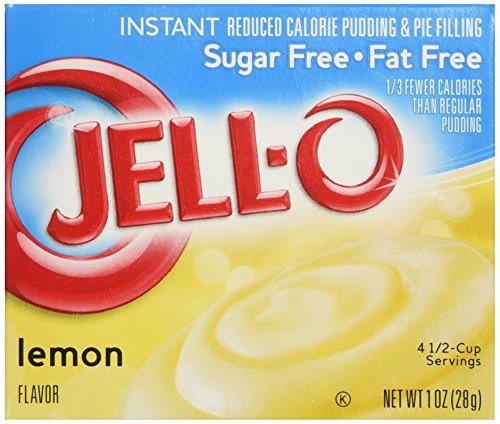 - JELL-O Lemon Sugar Free Fat Free Gelatin Dessert Mix (1 oz Box)