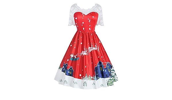 Falda Hawaiana,Vestidos Sexy Mujer,Vestidos Manga Larga,Faldas Largas De Mujer Elegantes,Vestidos De Mujer Casuales,Rojo,XL: Amazon.es: Ropa y accesorios