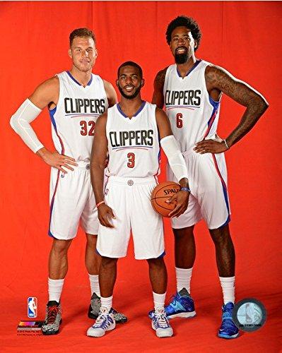 promo code d694b aa979 NBA Blake Griffin, Chris Paul, Deandre Jordan LA Clippers Photo (Size: 8