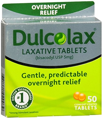 Dulcolax Laxative Tablets 50 ea (Pack of 12) by Dulcolax