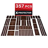 Heavy Duty Felt Pads for Chair Legs X-PROTECTOR 357 pcs Premium HUGE PACK Felt Furniture Pads! HUGE QUANTITY of Felt Pads For Furniture Feet with MANY BIG SIZES – Your IDEAL Wood Floor Protectors. Protect Your Hardwood & Laminate Floor!