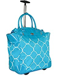 Ever Moda Moroccan Travel Bag with Wheels Luggage Carry On for Laptop