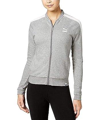 3750506827cc PUMA Womens Fitness Yoga Track Jacket Silver XL at Amazon Women s ...