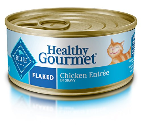 Blue Buffalo Healthy Gourmet Natural Adult Flaked Wet Cat Food 5.5-oz cans, Chicken (Pack of 24) ()