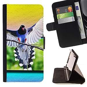 Momo Phone Case / Flip Funda de Cuero Case Cover - Loro alas del pájaro de vuelo Naturaleza Tropical Amarillo - LG G4c Curve H522Y (G4 MINI), NOT FOR LG G4