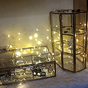 iMagitek 6 Pack 7Ft 20LED Waterproof Fairy Lights Silver Wire Lights LED Moon Lights for Wedding Centerpiece, Party, Table Decorations, Christmas, Thanksgiving, Crafting Costume Making - Warm White