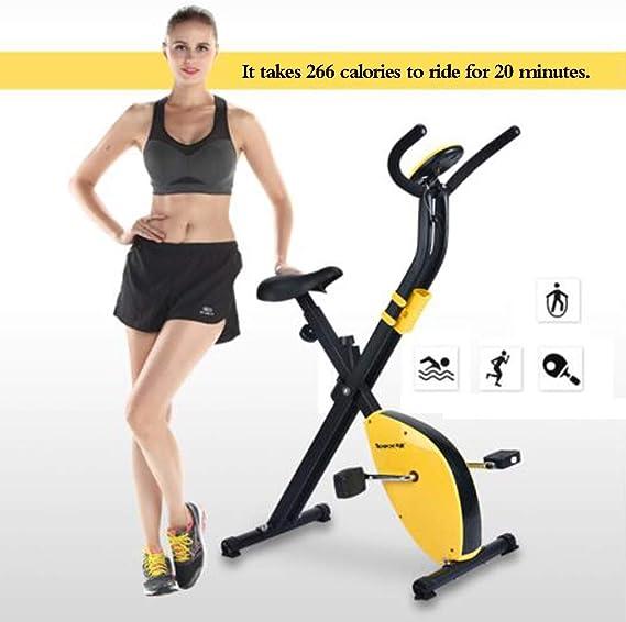 Bicicleta de ejercicios Bicicleta Giratoria Hogar Mini Bicicleta Plegable para Adelgazar Equipamiento De Ejercicios para Gimnasio Equipo Multifuncional para Ejercicios (Color : Yellow): Amazon.es: Deportes y aire libre