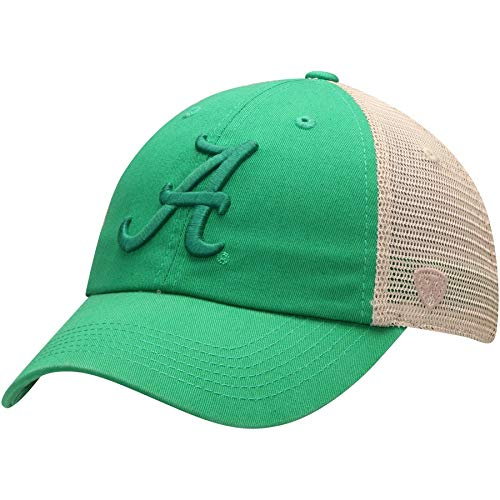 Top of the World Alabama Crimson Tide St. Patrick's Day Snog Trucker Hat - Green