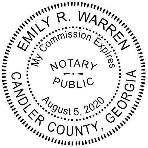 Notary Stamp for State of Georgia - Pre-Inked Stamp, Customize Online
