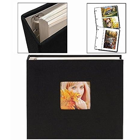 Amazoncom Black Cloth Ringbound Photo Album By Nielsen Bainbridge